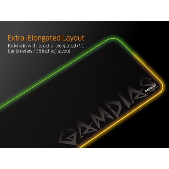 Gamdias NYX P3 ARGB Gaming Mouse Pad with Non-Slip Rubber Base