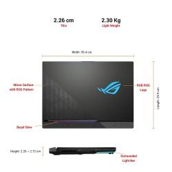 ASUS ROG Strix Scar 15 (2021), 15.6-inch (39.62 cms) FHD 300Hz/3ms, AMD Ryzen 9 5900HX, GeForce RTX 3080 8GB Graphics, Gaming Laptop(16GB/1TB SSD/Office 2019/Windows 10/Black/2.3 Kg), G533QS-HF210TS