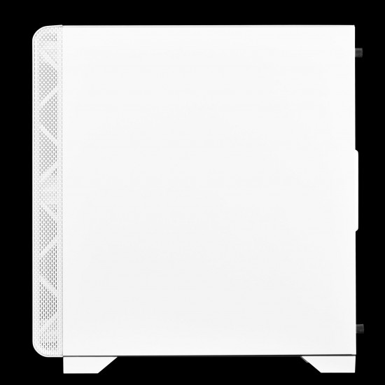 MARS E2 WHITE  (Mini Tower, Pre-installed Fans : Rear 120mm fan, Tempered glass panel, Left Tempered Glass Panels with Swing Door Design,397 x 210 x 425mm )