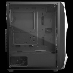 Gamdias ATHENA-E1-ELITE Mid Tower Cabinet Side Tempered Glass Panel with Magnetic Dust Filter & 3 Built-in 120mm Trio Rings ARGB Fans