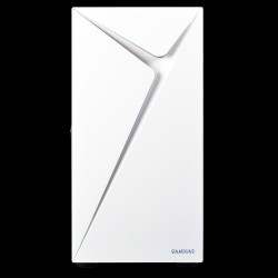 ARGUS E4 ELITE WHITE (Pre-installed Fans : Rear: 1 x 120mm ARGB Fan, Front ARGB texture, Left tempered glass, Swing door,393 x 230 x 460 mm)