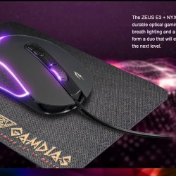 Gamdias Zeus E3 Gaming Optical Mouse and NYX E1 Gaming Mousepad Combo Corded
