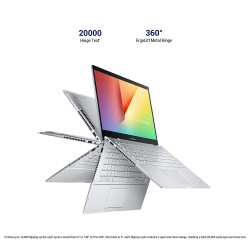 """ASUS VivoBook Flip 14 (2020), Intel Core i3-1115G4 11th Gen, 14"""" FHD Touch Thin and Light 2-in-1 Laptop (8GB RAM/256GB SSD/Office 2019/Windows 10/Integrated Graphics/Silver/1.5 Kg), TP470EA-EC301TS"""