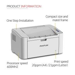 Pantum P2200 Laser Printer (Grey)