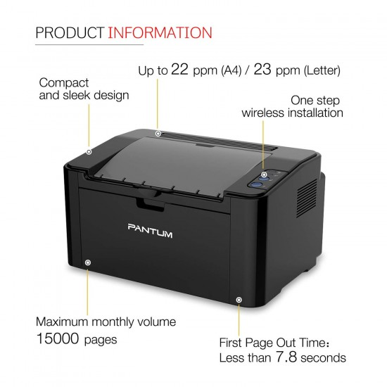Pantum P2500 Laser Printer (Black and White)