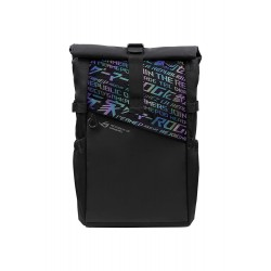 ASUS ROG BP4701 43.18 cm Gaming Backpack (Black), with Holographic Cybertext Printing, Roll Up Design, Suitable for up to 43.18 cm Laptop